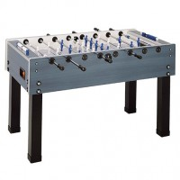 blue and grey Garlando football table