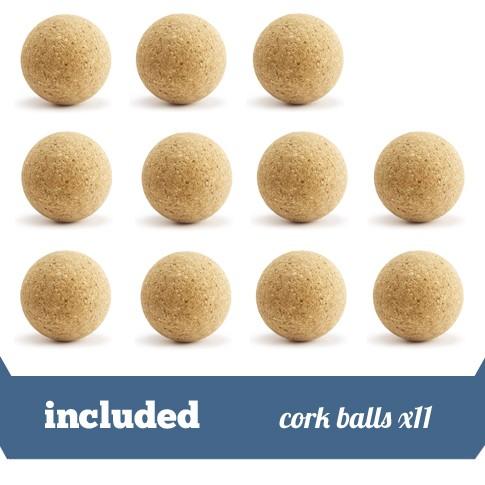 pack 11 cork balls