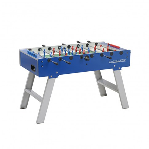 Blue and grey outdoor football table