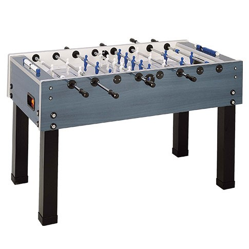 blue and grey football table