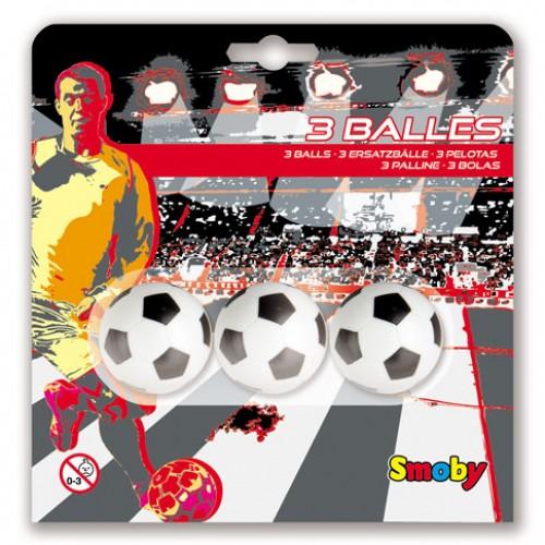 3 balles plastique 34mm