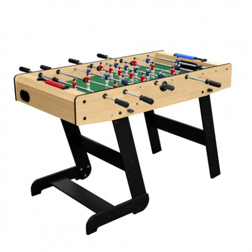 Foldable Zizou clear wood football table
