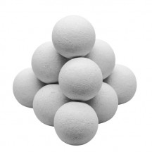 Set of 11 white cork balls