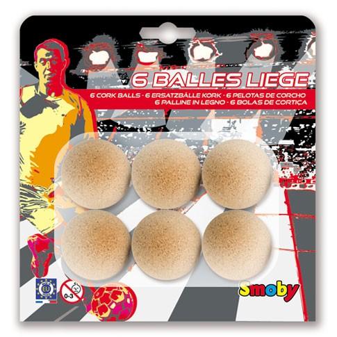 6 cork balls 35mm