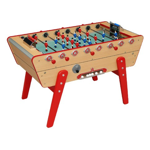 buy stella champion coin-operated beech wood football table
