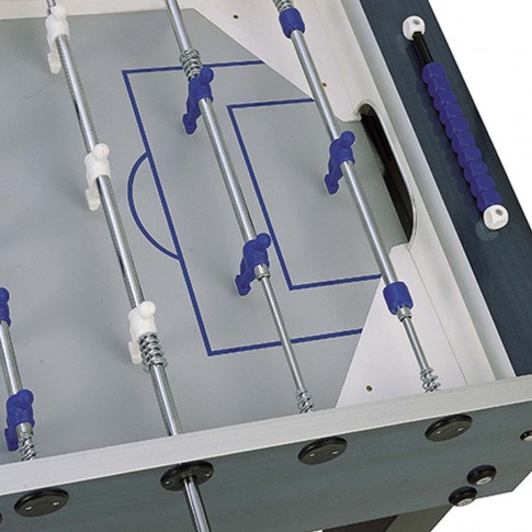 blue grey football table white player