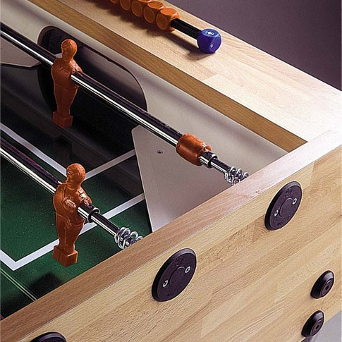 Garlando football table from light wood
