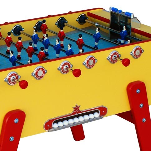 champion yellow football table