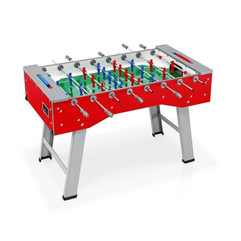 bright red football table casters