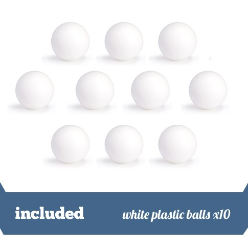 Pack of 10 white plastic balls