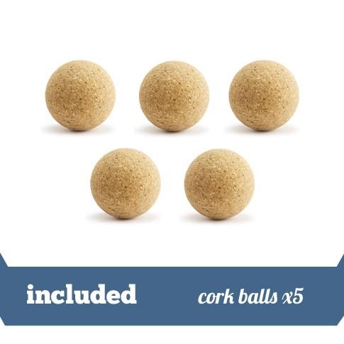 Pack 5 cork balls