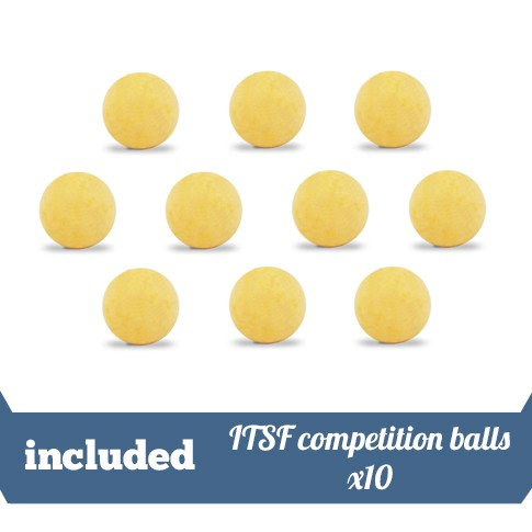 Included 10 ITSF balls Roberto Sport
